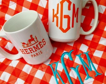 Monogram Hermes Mug
