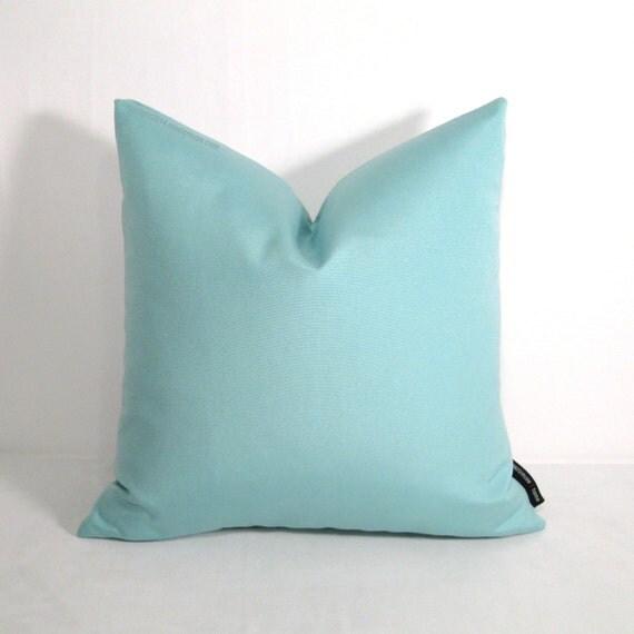 Light Aqua Throw Pillow : Aqua Blue Outdoor Pillow Cover, Modern Light Blue Throw Pillow Case, Decorative Pastel, Glacier ...