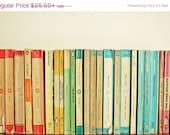SALE 25% OFF Still Life Photography, Book Photo, Rainbow Art, Preppy Decor, Literature Art, Gift for Writer, Library Art - Birds on Parade