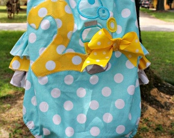 SALE Birthday Baby Bubble Romper Sun Suit