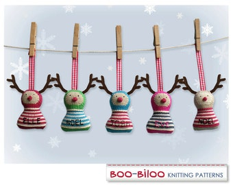 Rudolph Knitting Pattern. Christmas decoration / holiday ornament