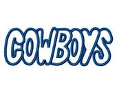 Cowboys Embroidery Machine Applique Design Design 4093