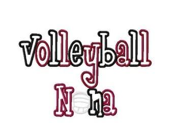 Volleyball Nana, Nona 2 Color Embroidery Machine Applique Design 4249 INSTANT DOWNLOAD