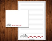 Letter Writing Stationery Set - bicycle love