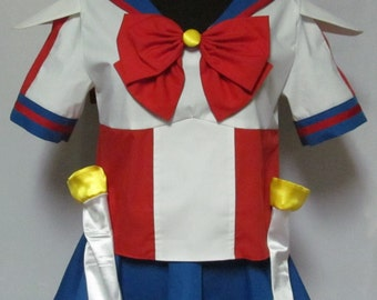 Plus Size Sailor V Sailor Moon Manga Costume Cosplay Adult Women's Custom Fit 16 18 22 22 24