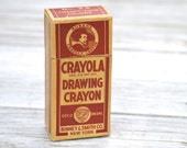 Antique Rubens Crayola Drawing Box and Used Crayons Binney & Smith Co Gold Medal
