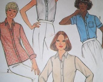 Sale - Vintage - Simplicity 8861 - Misses & Tall Misses Shirt - Size 16 - Bust 38 - Uncut Pattern
