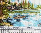 Vintage Tea Towel, 1974, Great Outdoors