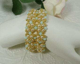 Woven Swarovski Crystal Bracelet