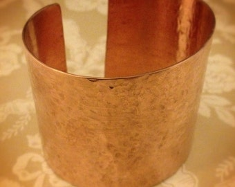 Beautiful Hammered Copper Cuff Bracelet