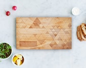 Wood Cutting Board With Personalized Engraving - 8x14