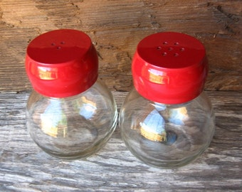 Country Red Salt and Pepper Shakers