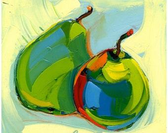 Original painting - Sisters -12X12-Modern Fine Art