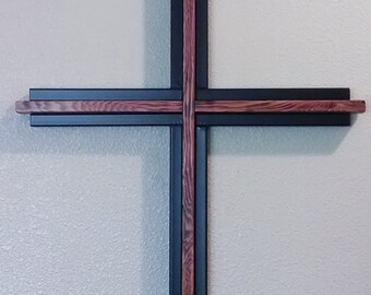 Handcrafted Wood & Metal Cross **SPRING SPECIAL** Free Shipping!