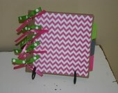 PINK, GREEN and GRAY Paper Bag Scrapbook Album
