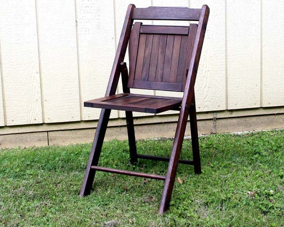 mid century wood folding chair vintage folding chair