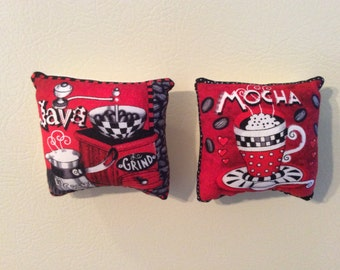 Mocha and Java Coffee Pillow Magnets