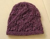 Purple Lace Beanie