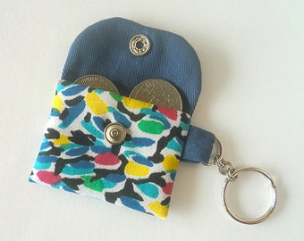 Mini Coin Purse / Fabric Coin Pouch / Key ring pouch