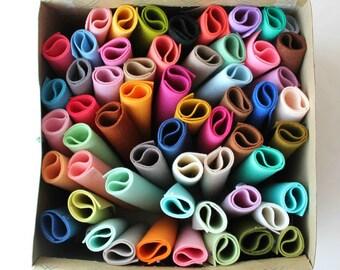 PURE Merino Wool Felt 5 6x8 Sheets