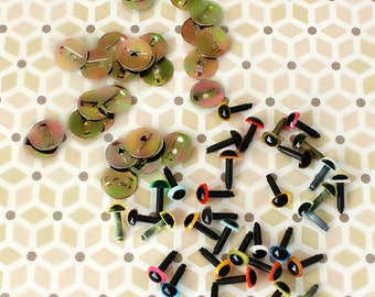 6mm Coloured Craft, Safety, Animal Eyes - 10 Pairs