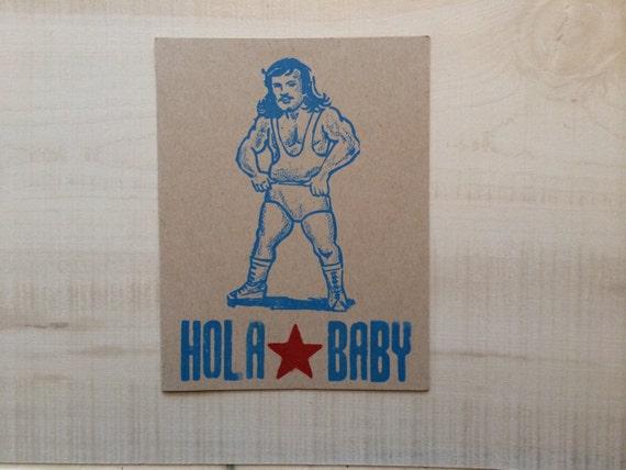 Hola Baby Letterpress Card