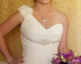 Mila Bridal Dress Gown Beaded Jeweled Crystal Belt Sash
