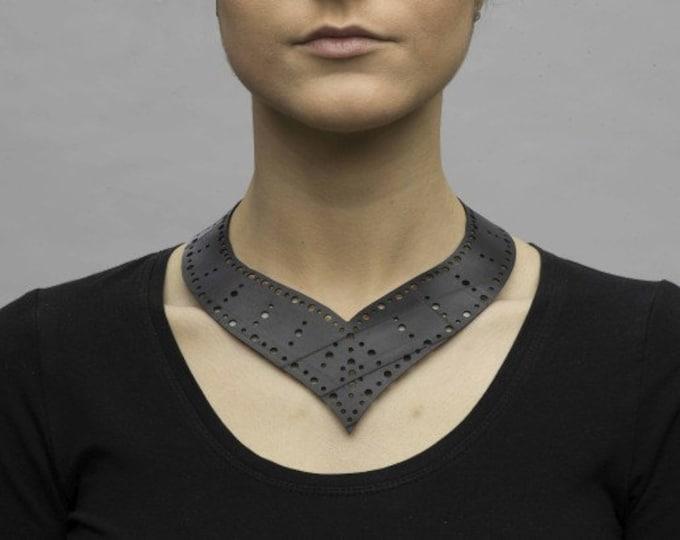 Upcycled Innertube Collar / Choker - designer fashion.