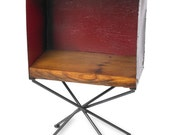 Metal Table Box End Table or Side Table