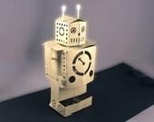 pop-up vintage style robot card