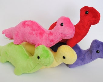 Brontosaurus Plushie CHOOSE YOUR COLORS
