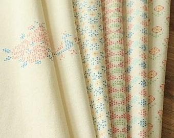 zakka japanese Linen and Cotton mix CROSS STITCH Patterns fabric Bundle