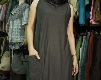 Wear Both Front & Back Side - Asymmetrical Hem Cotton Mix Polyester Tunic Wrap Cardigan