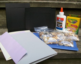 Shell Creativity Kit - decorate two included frames and greeting cards plus pictures