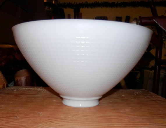 10 Inch Top 2 7 8 Fitter White Milk Glass Shade For