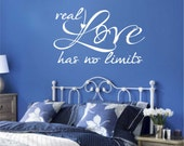 Vinyl Wall Lettering Real Love has no limits Quotes Romantic Decal