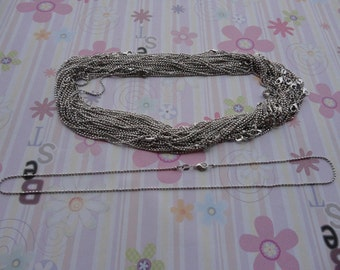 High Quality--25pcs 1.5mm 18 inch white k plated shiny ball chain necklace  with lobster clasp