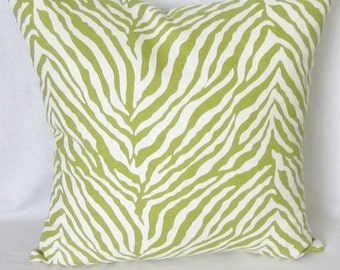 Zebra pillow cover, animal print, accent pillow, 18 x 18 inches, buy one - get 30% off the second one, FREE SHIPPING Canada and US
