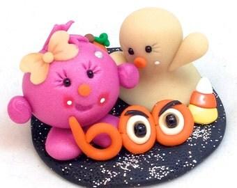 Halloween Lolly Figurine - Polymer Clay StoryBook Scene Sculpture