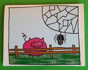 Poor Wilbur (Bacon) Card
