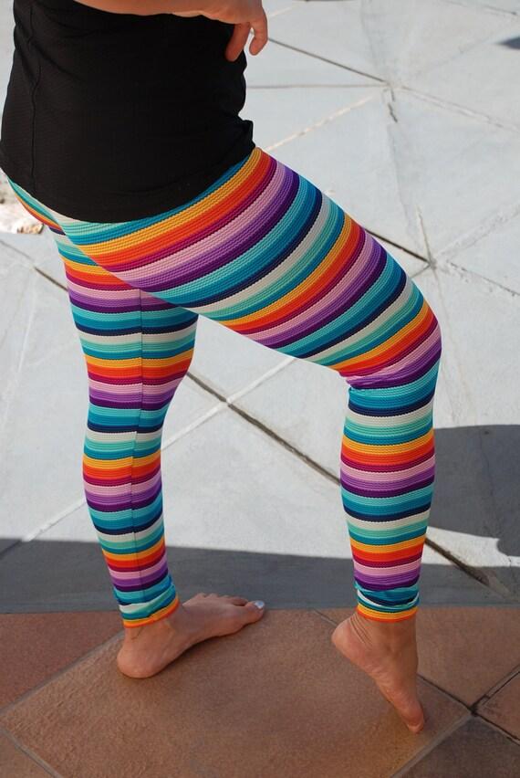 Colored Striped Leggings Multi Colored Striped Leggings
