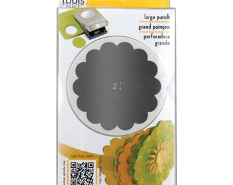 "2-1/4"" Scallop Circle Paper Punch by EK Success - Round Punch, Tags, Journaling, Planner and Travelers Notebook Supplies"