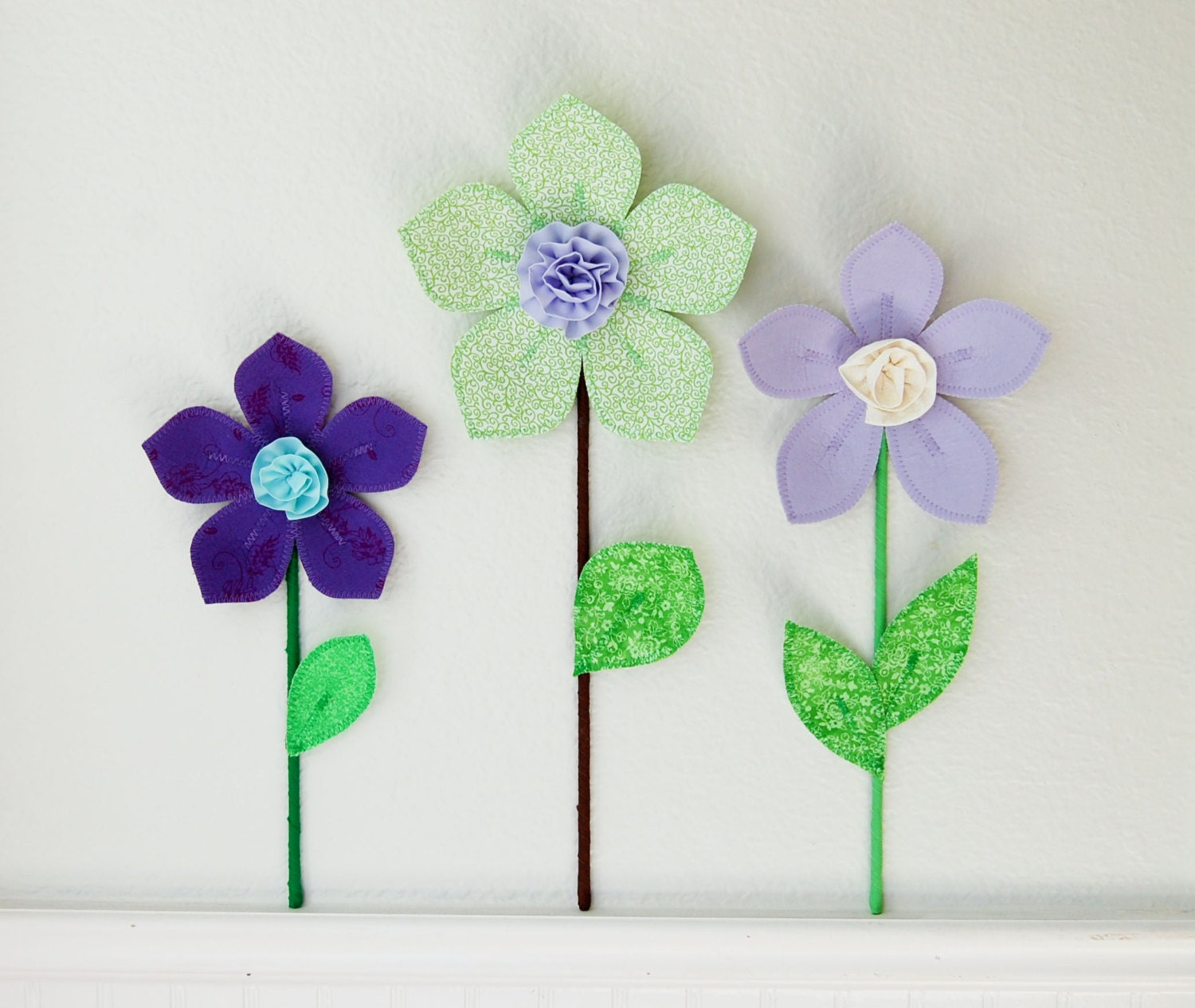 3d fabric wall flower decor for girl room floral fabric wall for 3d flowers for wall decoration