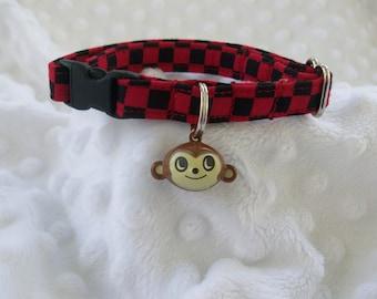 Monkey Cat Collar Breakaway Collar Custom Made