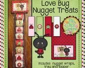 Love Bug Nugget Treat Set--Printable
