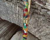 Confetti Multi Colored Acrylic Hand Turned Ball Point Pen