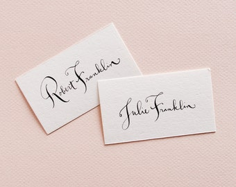 Sample Calligraphy Place Cards & Escort Cards