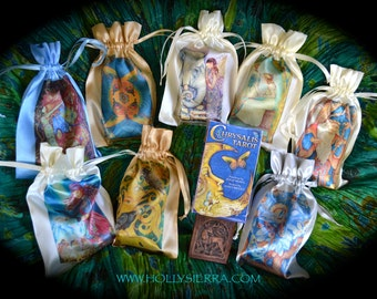 Satin Drawstring Pouch (ONE) for Chrysalis Tarot  - Your Choice Of Image