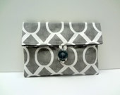 Gray Makeup Bag in Sydney Print from Premier Prints READY TO SHIP