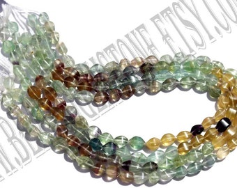 Multi Fluorite Smooth Dew Drops (Quality B) / 36 cm / 23 to 25 Grms. / 5.5x8.5 to 6x10.5 mm / BOG-012